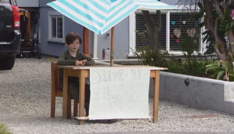 6-Year-Old Runs Joke Stand To Make People Smile And Laugh