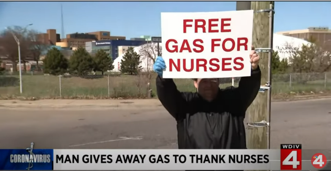 Michigan Man Helps Nurses with his Savings by Filling Gas for their Vehicle