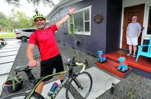 Read more about the article Billy Flanigan Pedaled 3,000 Miles, Doing Good And Spreading Happiness