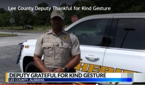 Alabama Deputy Moved by a Random Act of Kindness by Teens