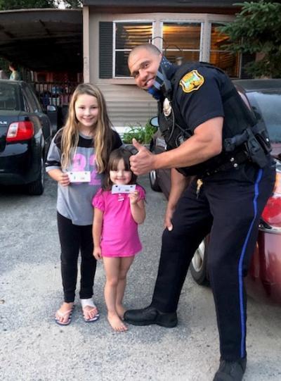 Wareham Cops Rewarding Kids Doing Good With Ice Cream Coupon