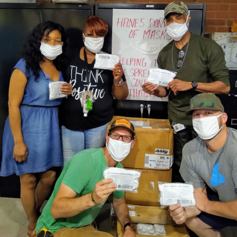 Hanes Doing Good Providing Homeless with 1,000,000 Masks