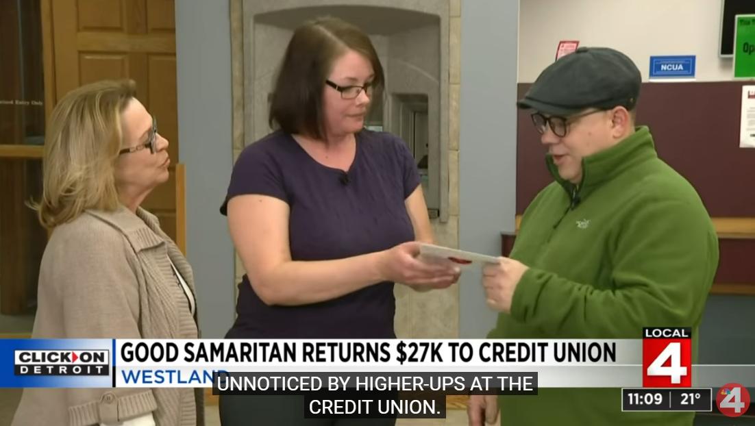 Good Samaritan Returns $27,000 to Credit Union Found Outside ATM