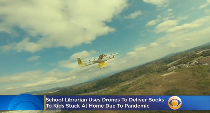Librarian Uses Drones To Deliver Books To Kids Stuck At Home