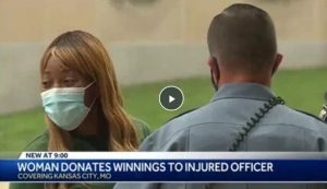 Mom Donates Lottery Winnings to a Wounded Police Officer, Department Raises $87K for Her