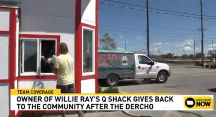 Local Iowa BBQ Joint Providing Meals to those Displaced by Iowa Storms