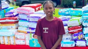 11-Year-Old Donates Over 27,000 Diapers Worth $7,500 to Single Moms