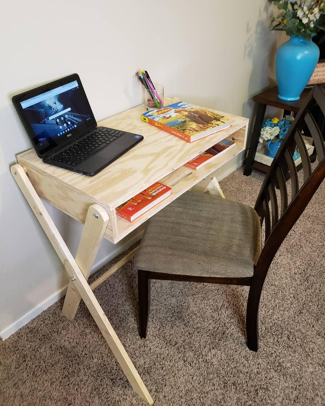 Good Samaritan Dad Building Desks for Virtual Students In Need