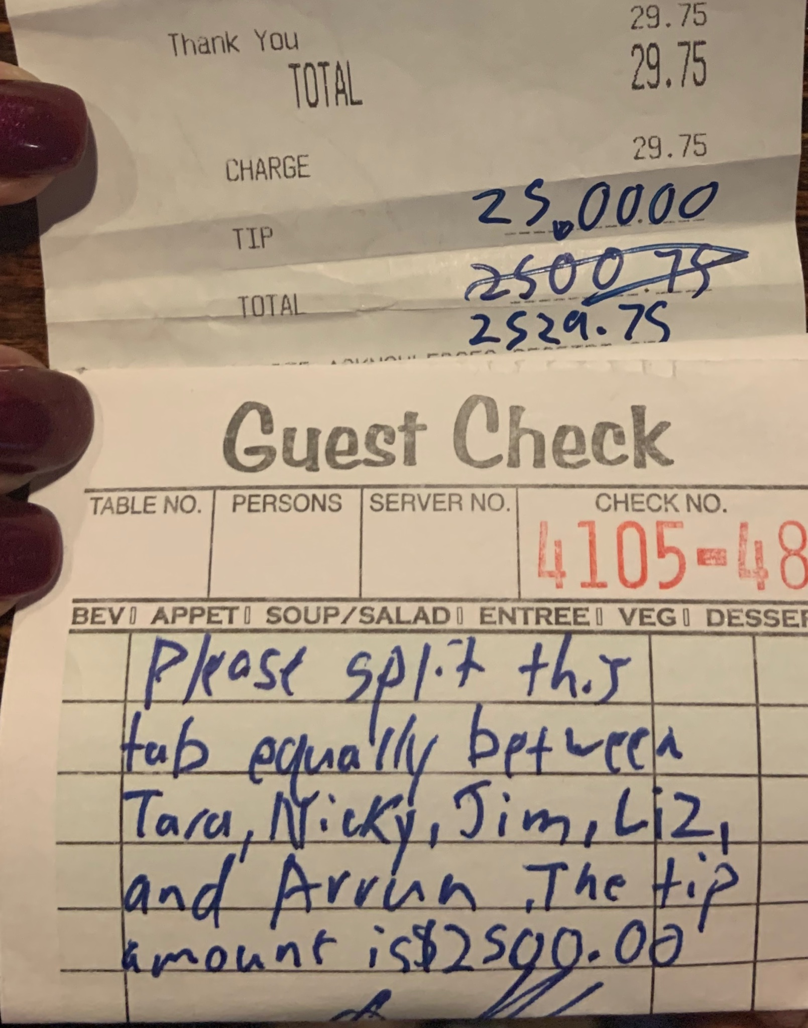 Kindness: Restaurant Staffers Left with $2,500 Tip Before They Closed