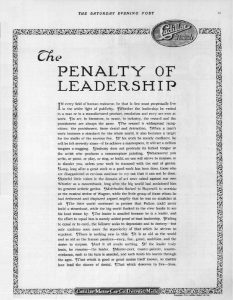 Read more about the article The Penalty of Leadership